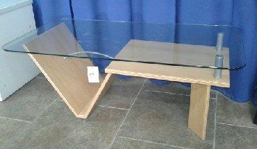 стол стеклянный в Кыргызстан: Немецкий стеклянный стол – тот предмет мебели, который не требует