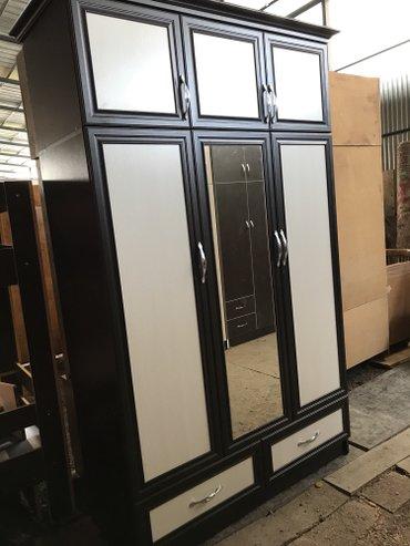 Шкаф 3-створчетый. цена 10000сом с доставкой + установкой по городу. в Кант
