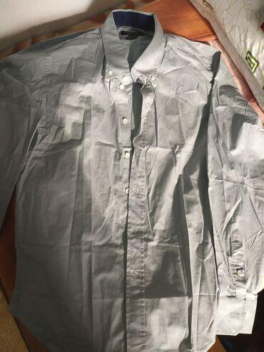Рубашка Итальянский . Серый XXL Новый без этикеток . Цена 700