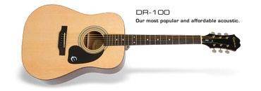 Epiphone akustik gitara Model:DR100NAT Canta hediyye