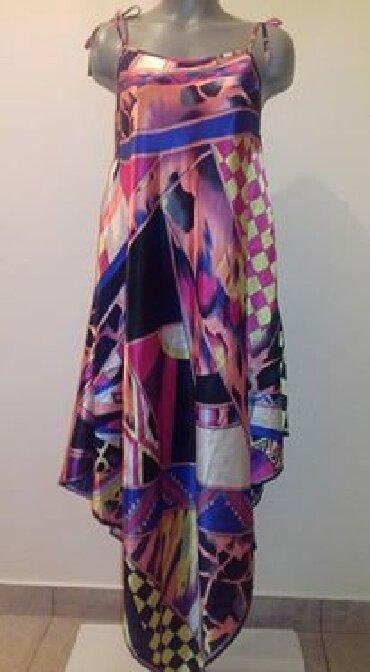 Haljine - Paracin: Saten duga haljina, odlicna za svaku figuru, prilagodljiva telu