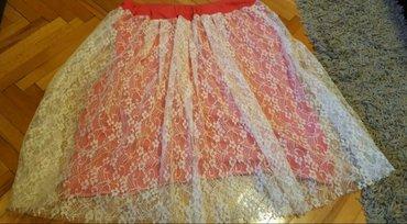 Zuta suknja sl - Srbija: Suknja u dva slojaSa cipkomPrvi sloj je fina pamucna tkaninaA drugi