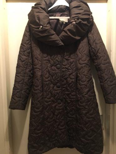 Duga zenska jakna - Srbija: Zenska braon duga jakna Velicina M/L