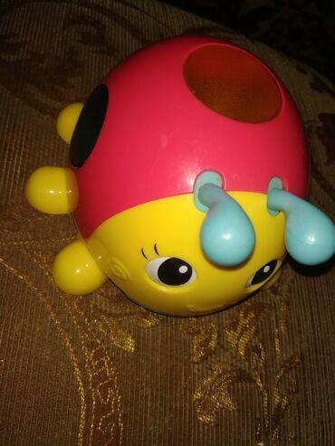 Интерактивная игрушка божья коровка светится в темноте Город Джалал