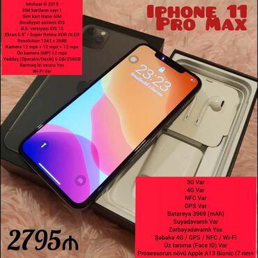 Mobil telefon və aksesuarlar - Azərbaycan: Yeni IPhone 11 Pro 256 GB Boz (Space Gray)