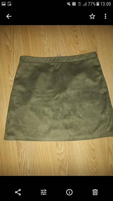 Suknjica M velicine. AMISU . maslinasto zelena