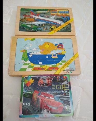детские игрушки 3 в Кыргызстан: Паззлы детские, все 3 за 50 с