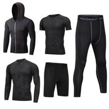 мужские вещи в Кыргызстан: Мужской спортивный костюм (новый) Комплект из 5 вещей. Размер М. В на