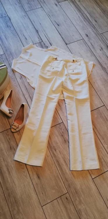 Pantalone struk duzina - Srbija: Prelepe bez pantalone materijal poput svile i lana. Struk 38cm, dubina