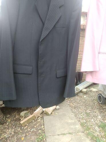Pantalone - Srbija: Sako i pantalone komplet u crnoj boji na pruge. Veličina 50. Dva puta