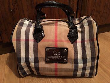 Računari, laptopovi i tableti | Bor: Burberry torba sa kožnim detaljima, jako malo nošena, bez oštećenja