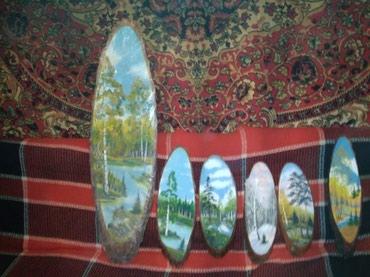 Картины на срезе дерева,стоимость в Бишкек