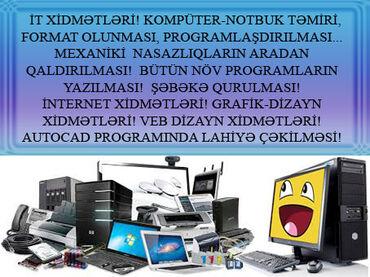 noutbukların təmiri - Azərbaycan: Kompüter - Notbuk Təmiri, Format olunması, Programlaşdırılması. Bütün