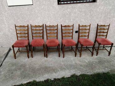 Frizerska stolica - Beograd: 6 stolica, potrebno je da se sredjuju, nisu polomljene, lagane, za
