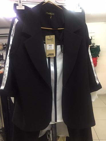 женские-пальто в Кыргызстан: Троечка(блузка,пиджак,брюки)Турция