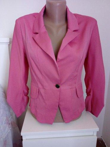 Pink kosuljoca - Srbija: Elegantan blejzer pink boje,velicina 38,vrlo malo nosen