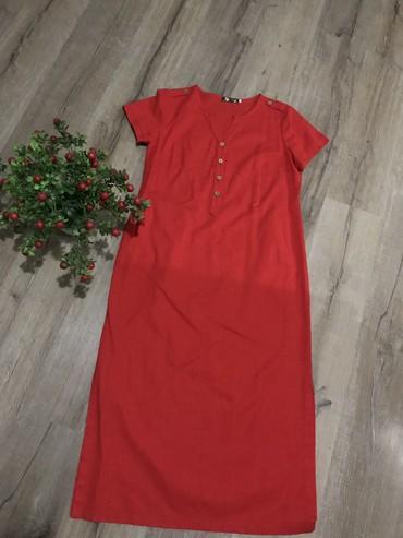 Платье, лен, размер 52