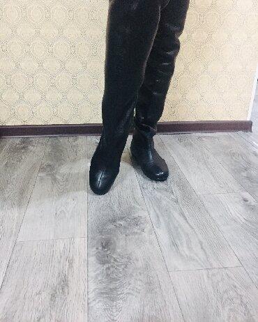 сапоги женские натуральная кожа в Кыргызстан: Сапоги ботфорды натуральная кожа,39 размер