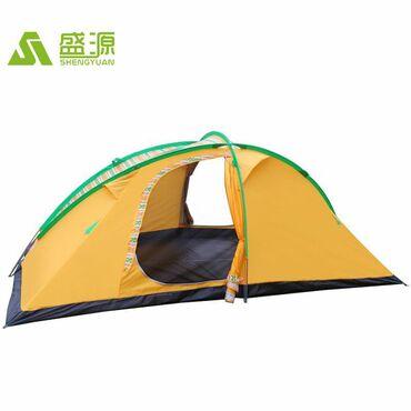 Большая необычная палатка. Размер 4,2м×2,4м. Ткань не пропускает воду