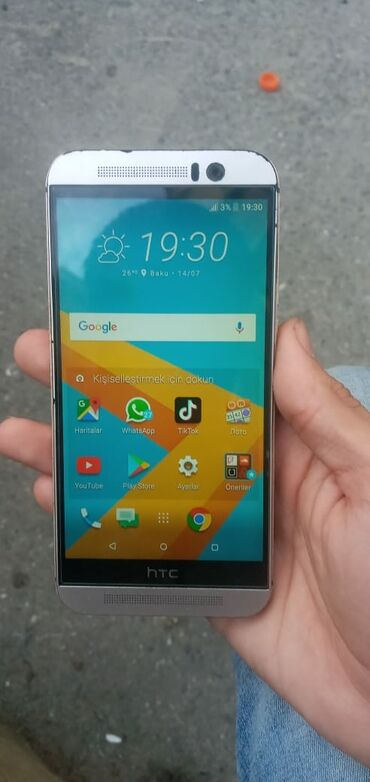 HTC Bakıda: Htc one M9 3gb ram 32 gb yaddash. On arxa kamera super cekir. Pubg