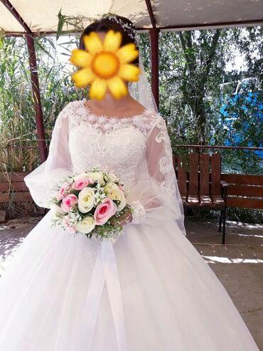 Личные вещи - Балыкчы: Продаю свадебное платье в отличном состоянии одевалось 1 раз на собств