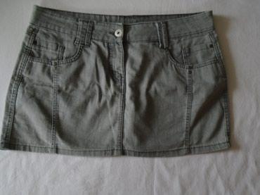Teksas suknjica - Srbija: Mini suknjica, Evie u fazonu ispranog teksasa. Poluobim struka 48 cm