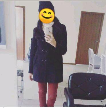 Пальто чёрное на 44 46и 48 нужно мерить фасон классный одето 2 сезона