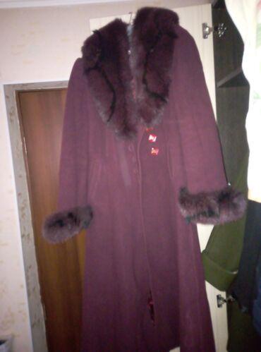 Пальто воротник песец на 48и 50 нужно мерить отдам за2000с