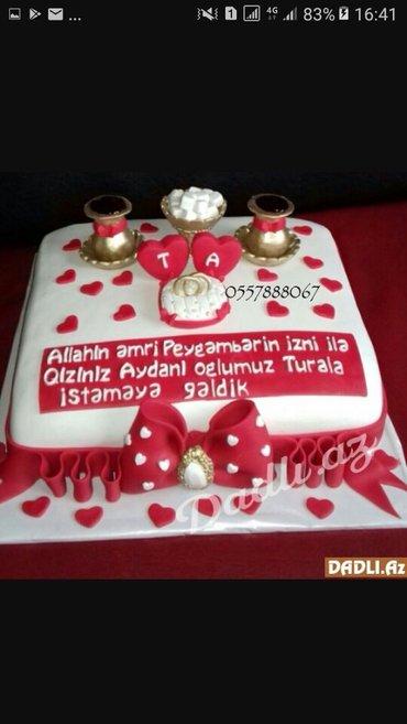 Bakı şəhərində Tecili tort usdasi teleb olunur..