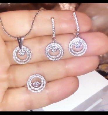Наборы украшений - Кыргызстан: Ювелирные изделия по доступным ценам серебро с пластинами золота