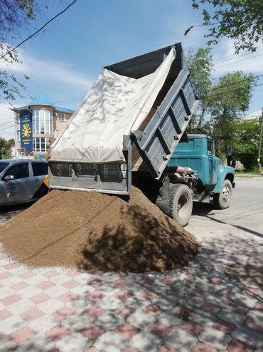 Песок, Отсев, Щебень, Глина, ЧерноземДоставка по Бишкеку 8 тон ЗиЛ