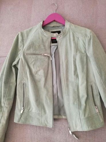 Kozna jakna velicina 38 ,strukirana,ocuvana,na grudima iznad dzepa ima - Nis