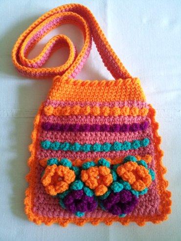 Продаю вязаные сумочки для девочек, можно под мобильный.. Ручная в Бишкек - фото 9