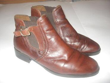 Kozne cipele - Srbija: Italijanske kožne gležnjačeNa cipelama je broj 39, unutrašnje gazište