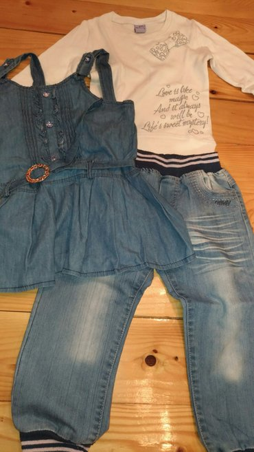 Komplet, pantalone vel.5, haljinica vel.5, majica vel.4 - Beograd