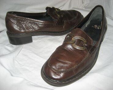 Braon kožne Rieker cipele Broj: 38Dužina gazišta: 24,5 cmRIEKER lagane