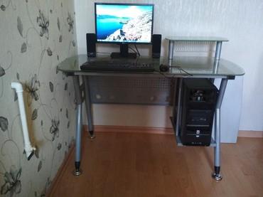 - Azərbaycan: Komputer + Komputer stolu. Stol əla vəziyyətdədir 1 dənə klavyatura qo