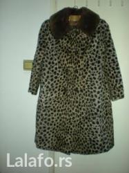 Prodajem atraktivnu veštačku bundu, imitacija leoparda. Sa kragnom - Belgrade