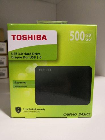 """Bakı şəhərində Orginal""""Toshiba""""500 Gb New"""