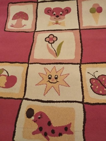 Tepih za sobu devojcice dim..(230x160),roze. sa skolicom na - Pancevo