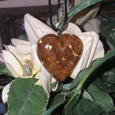эпоксидная смола цена в баку в Азербайджан: Кулончик из эпоксидной смолы ручной работы с настоящим кофе,приятный