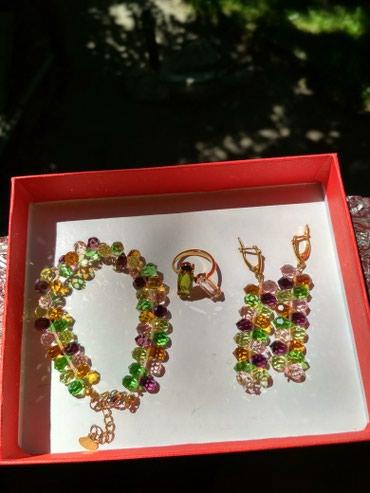 Шикарный комплект из подлинных кристаллов Сваровски,фирмы Женави в Бишкек