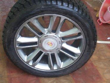 Шины и диски в Азербайджан: Rəsmi Cadillac dillerindən alınıb. 4 ədəd disk və pakrışka Bridgestone