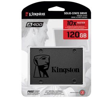 SSD 120GB Teze. Kingston SA400S37/120G. Teze, Orjinal 1il zemanet. в Bakı