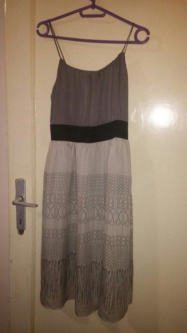 Svilena elegantna haljina 38 a moze i 40, jednom obucena, savrseno - Nis