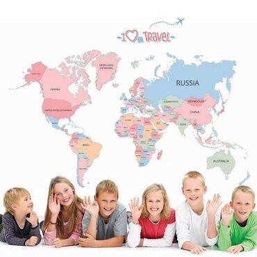 Materijali za izgradnju i popravke - Srbija: Mapa Sveta I Love Travel PVC stiker1200 rsdMapa Sveta je samolepljivi
