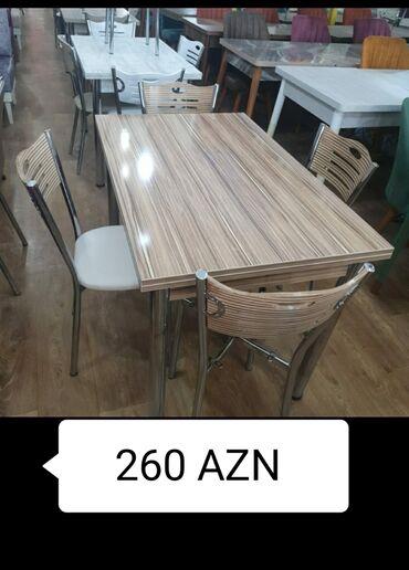mətbəx masa - Azərbaycan: Mətbəx dəsti və ya qonaq otağı üçün açılan stol və 4 stulMasa ve