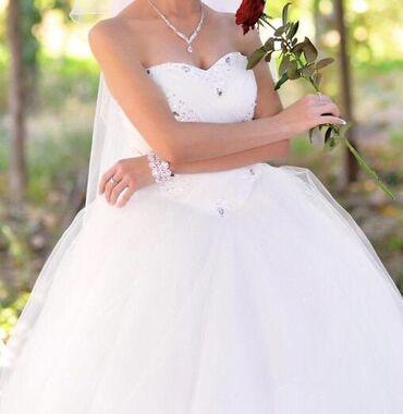 свадебное платье футляр в Кыргызстан: Продаю свадебное платье в идеальном состоянии