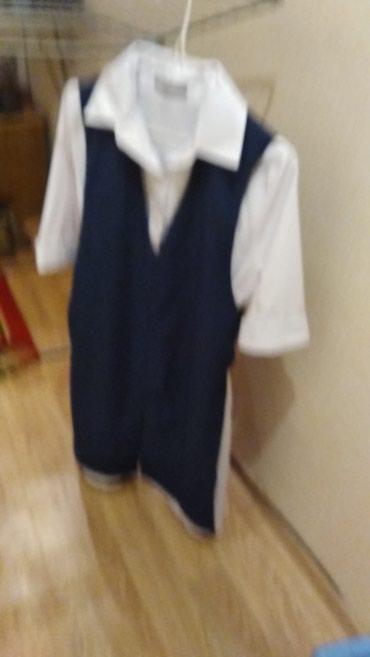 Продаю удлиненную белую рубашку с в Бишкек