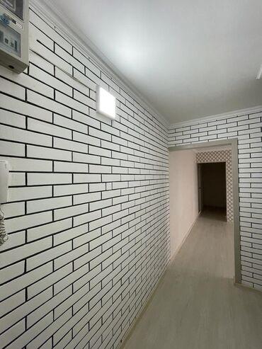 Продажа квартир - Бишкек: 104 серия, 3 комнаты, 63 кв. м Бронированные двери, Без мебели, Евроремонт